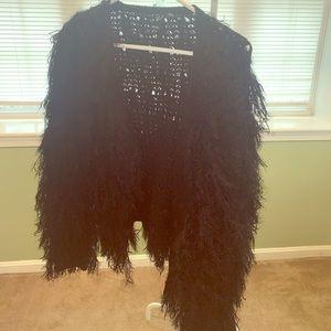 Black Furry Coat